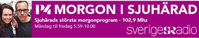 P4 Morgon i Sjuhärad Karin Ivarsson Sarit Monastyrski och Jon Koldenius. Foto Niclas Odengård 2