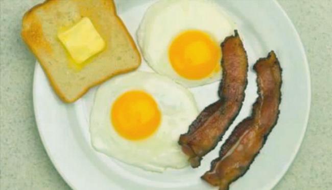 Bacon å ägg